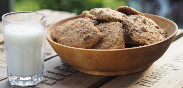 Lillesøsters byggmel-cookies